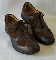 Women's Softspots Brown Leather/Suede Comfort Lace Up Sz 11 A4