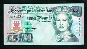 Gibraltar (P25) 5 Pounds 1995 UNC