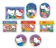 [Japan] Japanese Disney Hello Kitty 2012 stamps G60 ~ total 8 pic/set(Postmark )