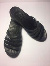 Crocs Women's Rhonda Strappy Wedge Sandals Black Size 6