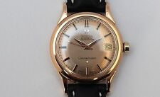 OMEGA CONSTELLATION PIE PAN 18K gold automatic watch revised.