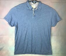 Lucky Brand Blue Henley Short Sleeve Metal Button Polo Shirt Sz 2XL
