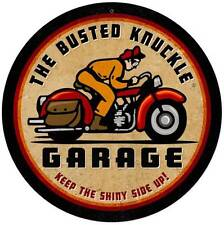 Busted Knuckle Garage Retro Motorcycle Metal Sign Man Cave Shop Club Bus055