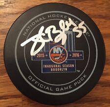 Johnny Boychuk #55 Signed New York Islanders 2016 NHL Game Puck PROOF Brooklyn