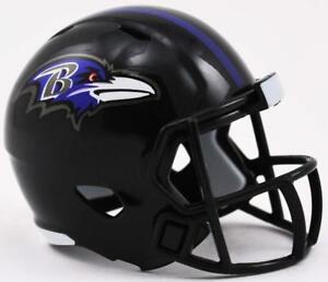 Baltimore Ravens NFL Riddell Pocket Pro Speed Mini Football Helmet