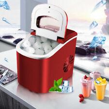 Eiswürfelmaschine Eiswürfelbereiter Eiswürfel Ice Maker Eis Maschine Rot 15kg DE
