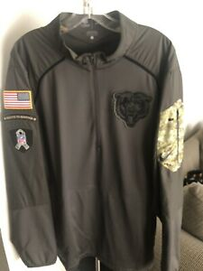 2015 NIKE CHICAGO BEARS SALUTE TO SERVICE HYBRID DRI FIT ON FIELD JACKET LARGE