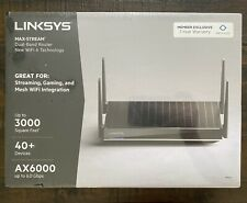 LINKSYS MAX-STREAM AX6000 Mesh Wi-Fi 6 Router Black MR9610