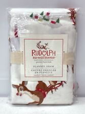 Pottery Barn KIDS Rudolph The Red Nosed Reindeer Flannel STANDARD Christmas Sham