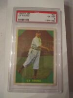 1960 CY YOUNG #47 FLEER BASEBALL CARD - PSA GRADED 6 EX-MT - BOX CC