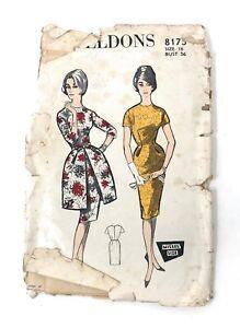 """Vintage 1950s-60s Weldons Ladies Pattern 8175 , Bust 36"""""""