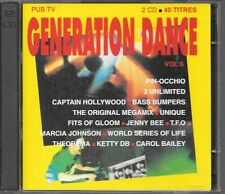 2 CD COMPIL 60 TITRES--GENERATION DANCE VOL 6--2 UNLIMITED/CAPTAIN HOLLYWOOD