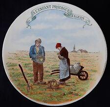 """n°142) Assiette publicitaire ancienne """"A l'enfant prodigue Angers"""" (cf signature"""
