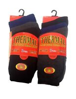 Ladies Women Black Extra Warm Thick Thermal Winter Boot Socks Tog UK Size 4-7
