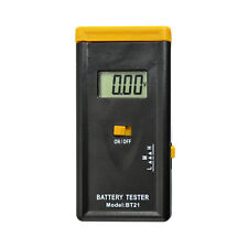 Portable Battery Tester Digital Lcd Battery Voltage Meter Aa 6F22 Button Cell