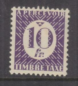 FRENCH COLONIES, GENERAL, Postage Due, 1945 10f. Violet, slight toning.