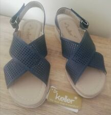 Dr Keller Ladies Women's Sandals Touch Fastening New With Tags Navy UK 4