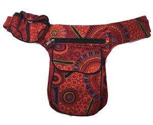 Boho Fanny Waist Pack Money Belt Multicolor Hip Bag Drop Leg Pouch Unisex Cotton