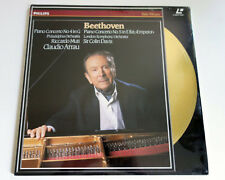 Beethoven | Piano Concertos Nos. 4 & 5 | Arrau | PAL | LASERDISC still sealed