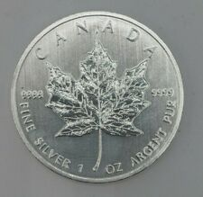 5 x 1 oz Silver Maple Leaf bullion coin .9999 - Free Shipping!