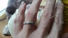 Handmade Vintage antiqued size 7.5 sterling silver 1960s new stock ring