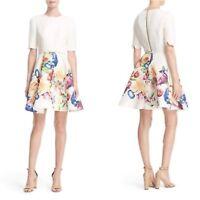 9fb55fbf74 New ✨Ted Baker London Tutsi Tapestry Belted Full Skirt Dress Size 4 (US 10