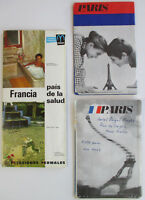 Vintage 1970s PARIS FRANCE TRAVEL BROCHURE COLLECTION Pamphlet Lot Map Souvenir