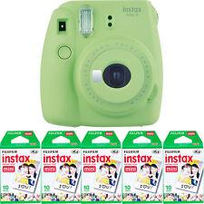 Fujifilm instax mini 9 Instant Film Camera (Lime Green) + 50 Fuji Mini Prints