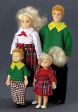Casa Delle Bambole Miniatura Moderno Famiglia Papà Mamma Girl E Boy (Biondo) 1: