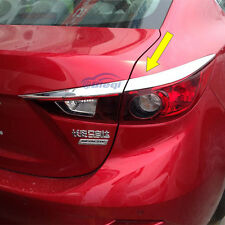 Auto ABS Chrome Tail light lamp Cover Trim For 2014 Mazda 3 Axela Sedan