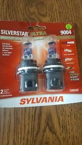 Sylvania Silverstar ULTRA 9004 High Performance Headlight 2 Bulbs BRAND NEW!!!
