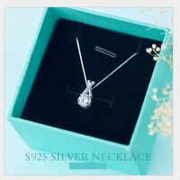 Sterling Silver Cross X Square Cubic Zirconia CZ Pendant Necklace Chain Gift I25
