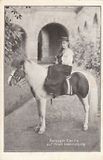 Old PC LITTLE DUCHESS of Germany, Cecilie, on her favorite pony/horse SIDESADDLE