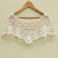 New Women Lace Crochet Knit Hippie Bohemian Cami Tops Blouse Cape Vest Shawl N4U