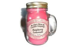 Our Own Candle Company Raspberry Lemonade Fragranced Large 13oz Mason Jar Candle
