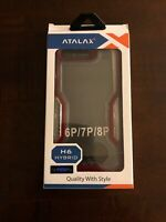 ATALAX H Series Shock Proof Case For iphone 6 Plus/ 7 Plus/ 8 Plus Clear/Red
