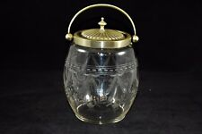 Pairpoint? Victorian Etched Crystal Cracker/Bisuit Jar