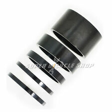 "1-1/8"" Aluminum Headset Stem Spacer 20-10-5-2-2mm , Black"
