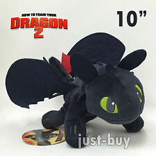 """How to Train Your Dragon 2 Plush Toothless Night Fury Soft Toy Stuffed Teddy 10"""""""