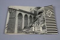 Y899 Faller B-545 B- 546 Notice de montage papier train maquette Ho