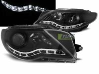 Coppia di Fari Anteriori LED DRL Look per VW PASSAT CC Daylight Neri IT LPVWJ5-E