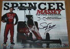2014 Spencer Massey signed Battery Extender Top Fuel Nhra postcard