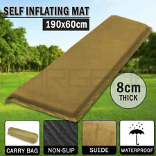 Self Inflating Mattress Sleeping Suede Mat Air Bed Camping Camp Hiking Joinable