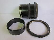 Hugo Meyer Trioplan 10.5 Inch 265mm f4.5 Brass Large Format Lens w Hood & Flange