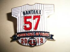 2018 Minnesota Twins Hall of Fame jersey pin  Johan Santana SCARCE   LAST  ONE