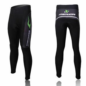 Merida Men's Padded Cycling Trousers Green Fire Bike Bicycle Lycra Pants S-5XL