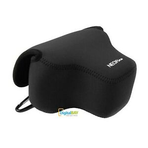 Custodia borsa protettiva bag neoprene NERO con gancio per Canon SX60 Fotocamera