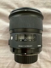 Sigma 24mm f/1.4 DG HSM ART Lens for Nikon DSLR Cameras #401306 *Very Good*