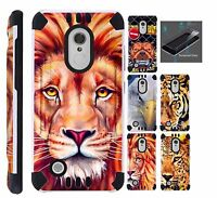 For LG Xpression Plus 2018 Phone Case Cover+TEMPERED GLASS Combat F6