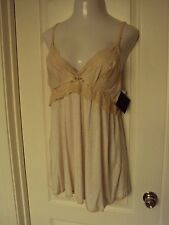 Seductivewear by Cinema Etoile Beige Chemise with panty and lace trim Size L